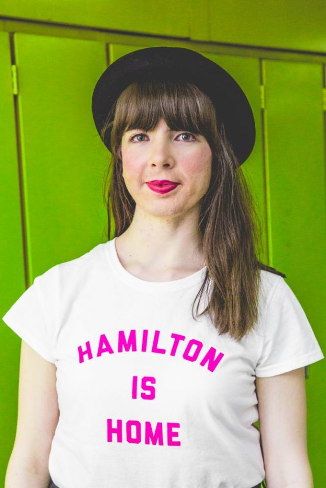 Kristin Archer in Hamilton Has Heart charity tee by Milli x True Hamilonian. Photo by Kayla Da Silva.