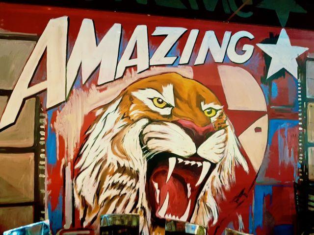 Mural by Street Art Hamilton at Bean Bar