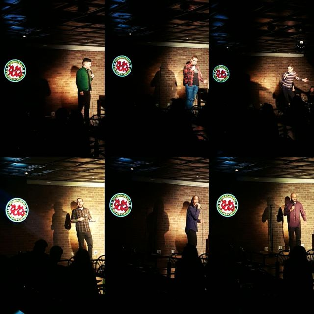 Performing at Yuk Yuks Hamilton. Zak McDonald, Jordan Scherer, Kev Sheeler, Isi Commisso, Black Zeus, Michael Moses