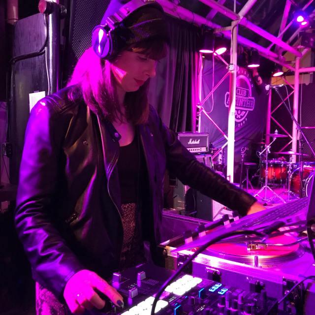 DJ Kristin. Photo by Julie Fazooli