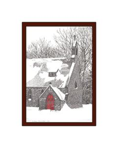 Kmiotek Art Works - Gloria Dei Church, Palenville, NY, Pen and Ink Print