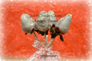 White Chocolate Covered Strawberry Bouquet