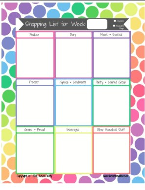 Shopping List Printable Download