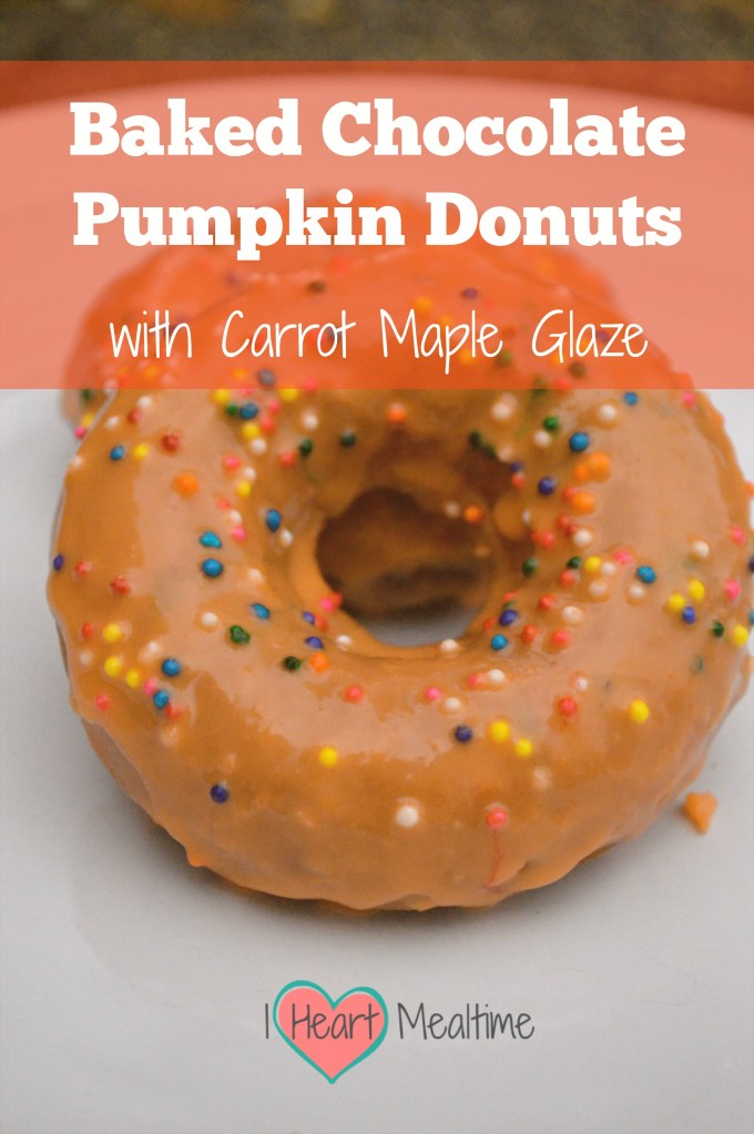 Baked Chocolate Pumpkin Donuts