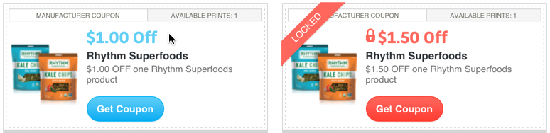 Rhythm Superfoods Kale Chips Coupon