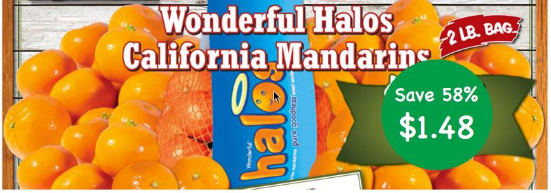 Wonderful Halos California Mandarins Coupon Deal