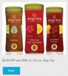 Argo Bottled Tea Coupon