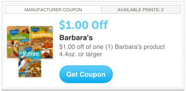Barbara's Coupon - Any Product
