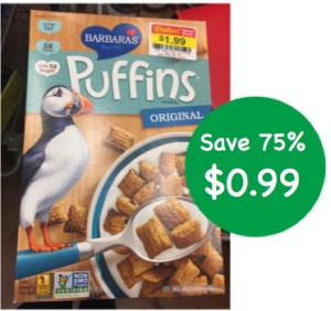 Barbara's Puffins Cereal Coupon Deal
