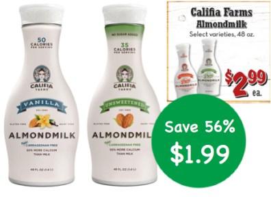 Califia Farms Almondmilk Coupon Deal