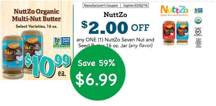 Nuttzo Organic Multi-Nut Butter Coupon Deal