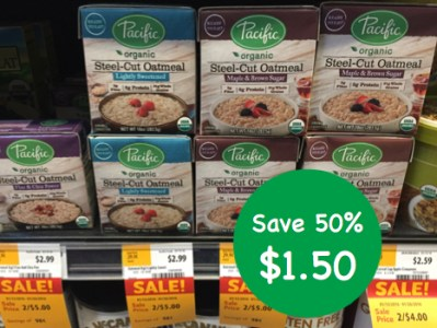 Pacific Organic Steel Cut Oatmeal Coupon Deal