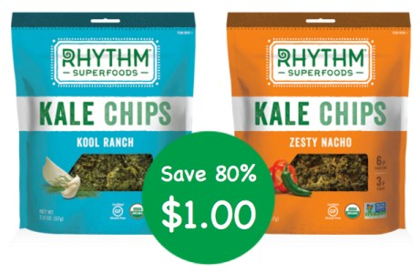 Rhythm Superfoods Kale Chips Coupon Deal