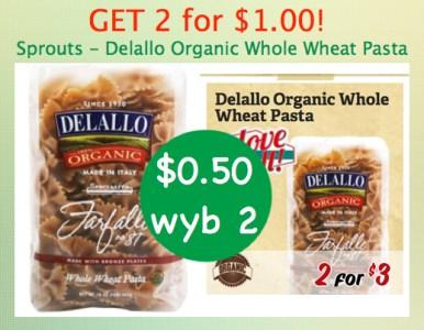 Delallo Organic Whole Wheat Pasta Coupon Deal