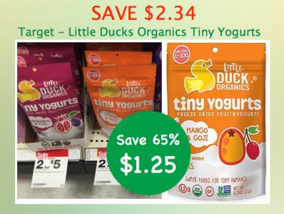 Little Duck Organics Tiny Yogurts Coupon Deal