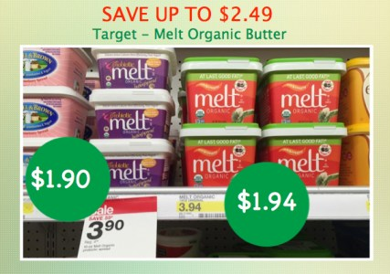 Melt Organic Butter Coupon Deal