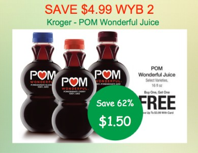 POM Wonderful Juice Coupon Deal