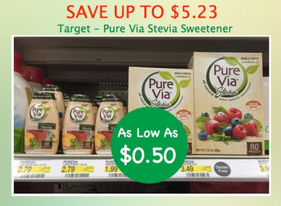 Pure Via Stevia Sweetener Coupon Deal