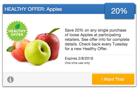 SavingStar Healthy Offer of the Week – Get 20% off Apples
