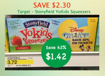 Stonyfield Organic YoKids Squeezers Coupon Deal