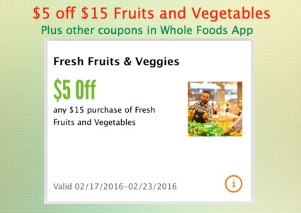 Whole Foods App Coupon
