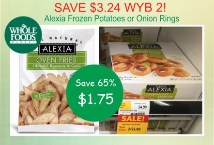 Alexia Frozen Potatoes or Onion Rings coupon deal