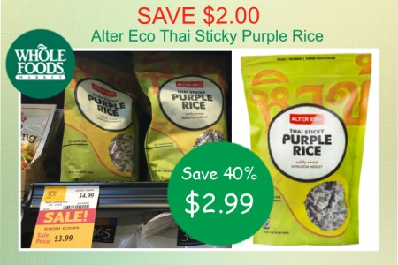 Alter Eco Thai Sticky Purple Rice coupon deal