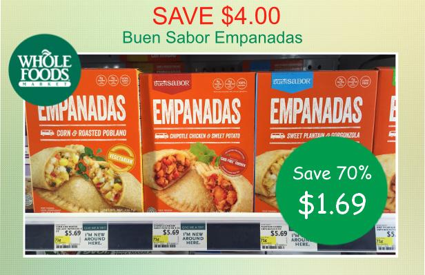 Save 400 Whole Foods Buen Sabor Empanadas Coupon Deal For 169