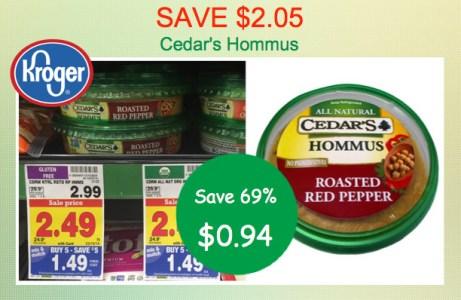 Cedar's Hommus Coupon Deal