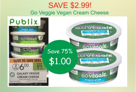 Go Veggie Vegan Cream Cheese coupon deal