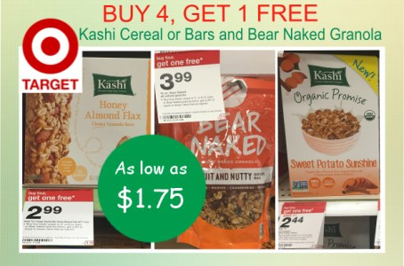 Kashi Cereal, Kashi Bars or Bear Naked Granola Coupon Deal