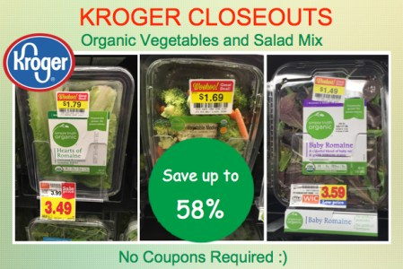 Kroger Closeouts Organic Vegetables