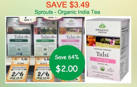 Organic India Tea Coupon Deal