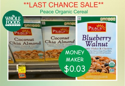 Peace Organic Cereal coupon deal