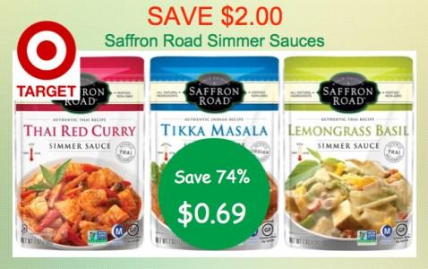 Saffron Road Simmer Sauces Coupon Deal