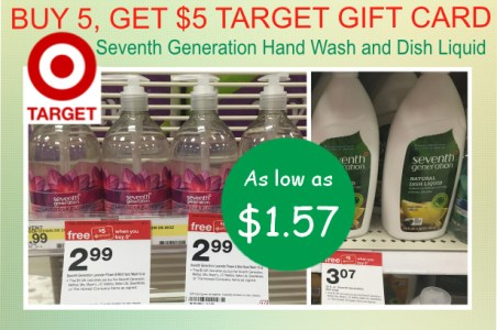 Seventh Generation Hand Wash and Dish Liquid coupon deal