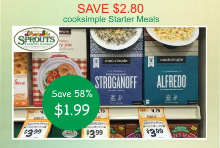 cooksimple Starter Meals coupon deal
