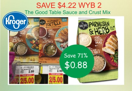 the good table sauce and crust mix coupon deal
