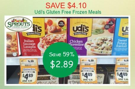 Udi's Gluten Free Frozen Meals Coupon Deal
