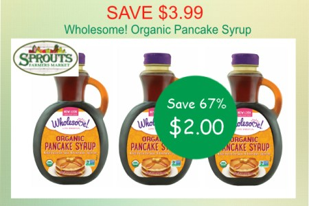wholesome! organic pancake syrup coupon Deal