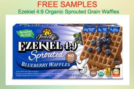 Free Sample of Ezekiel Sprouted Grain Waffles