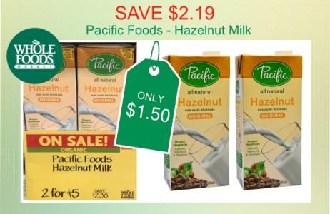 Pacific Foods Hazelnut Milk coupon deal