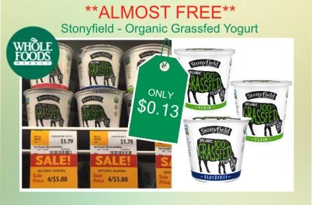 Stonyfield - Organic Grassfed Yogurt coupon deal