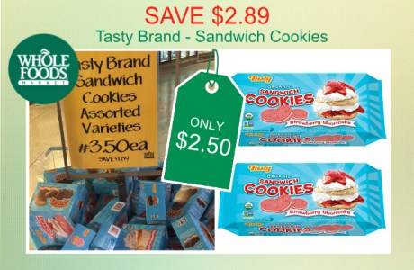 Tasty Brand Sandwich Cookies 2 coupon deal