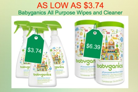 Babyganics All Purpose Wipes and Surface Cleaner