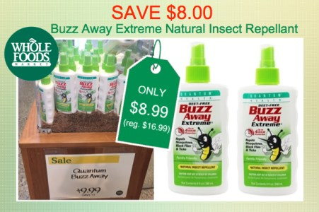 Buzz Away Extreme Natural Insect Repellant Coupon Deal