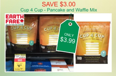 Cup 4 Cup Pancake and Waffle Mix coupon deal