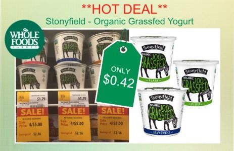 Stonyfield Grassfed Yogurt coupon deal 2