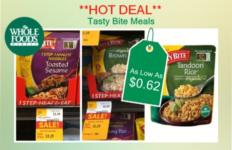 Tasty Bite Meals coupon deal