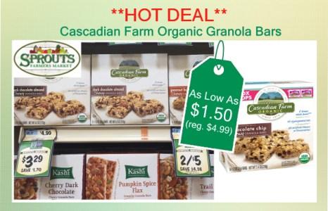 Cascadian Farm Organic Granola Bars coupon deal